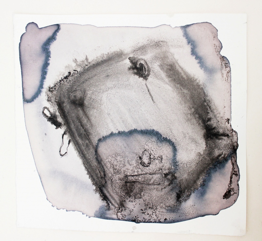 Weinabend_ Zustand IV, ink and wine on paper, 40×40