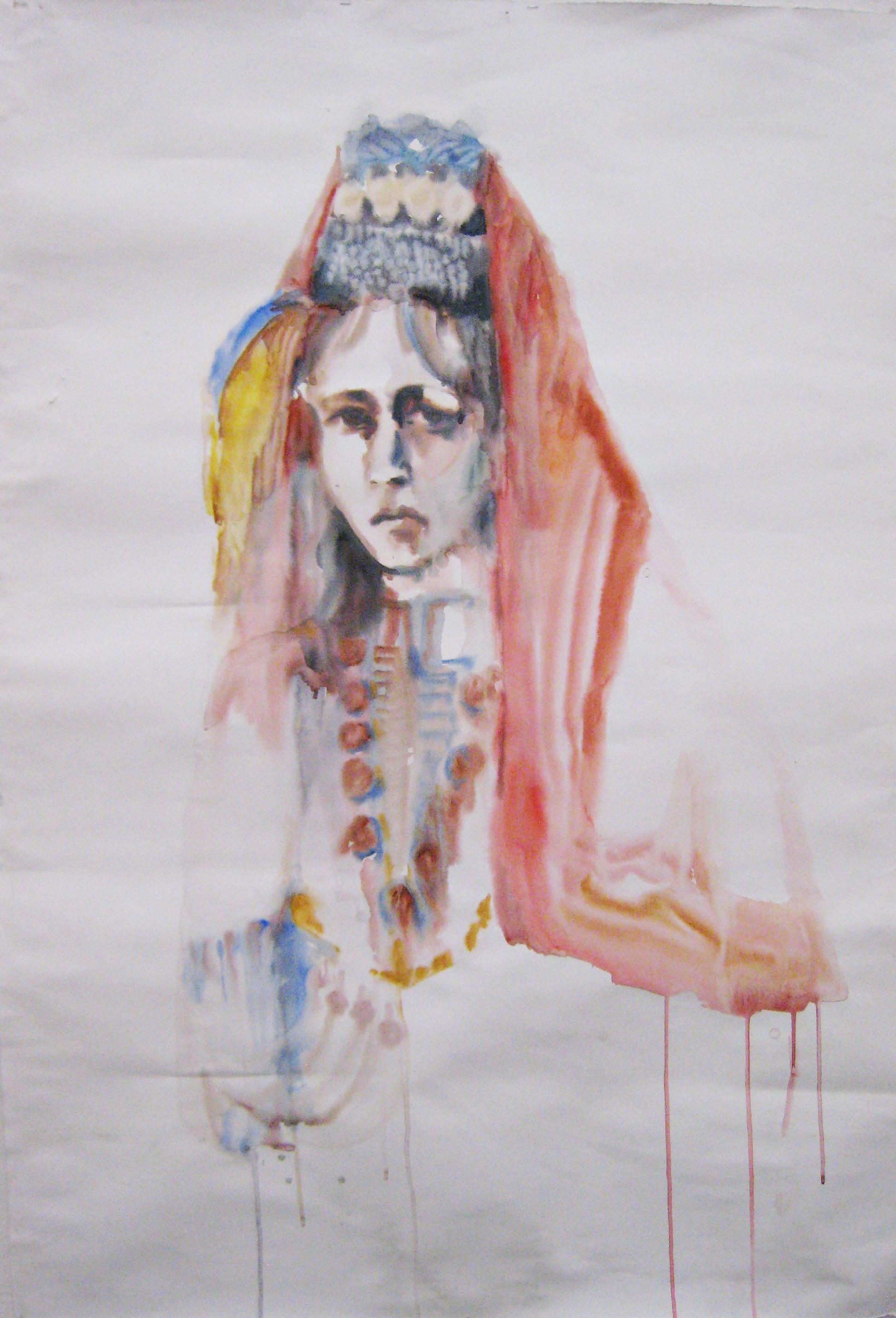 Bulgarin I, aquarelle, 102×145