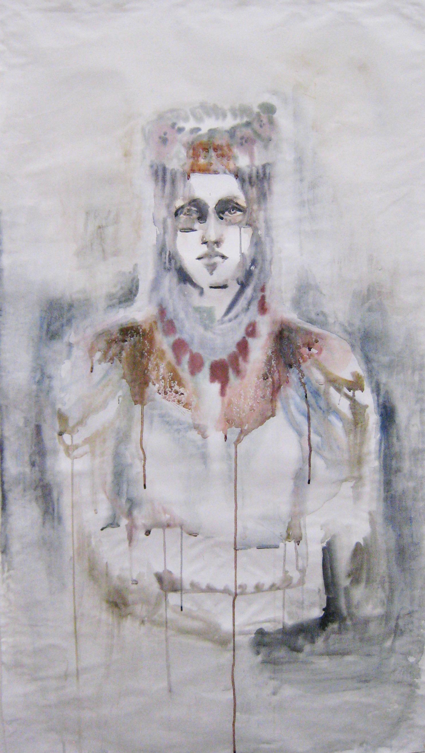 Bulgarin II, aquarelle, 150×85 cm