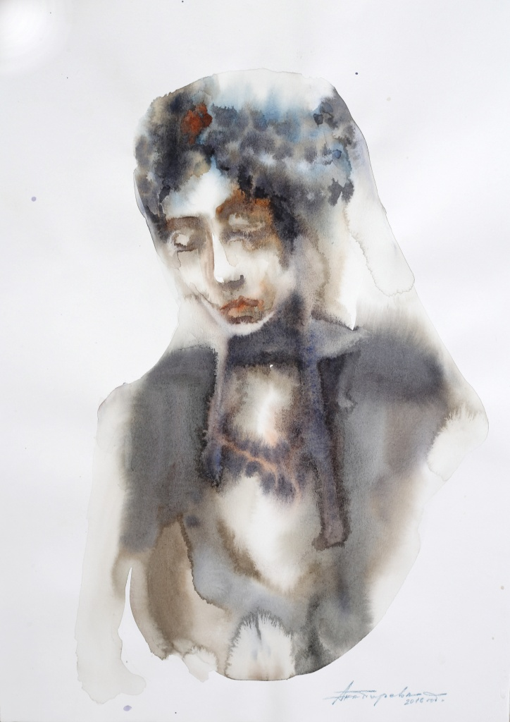 Bulgarin IV, aquarelle, 35×50 cm