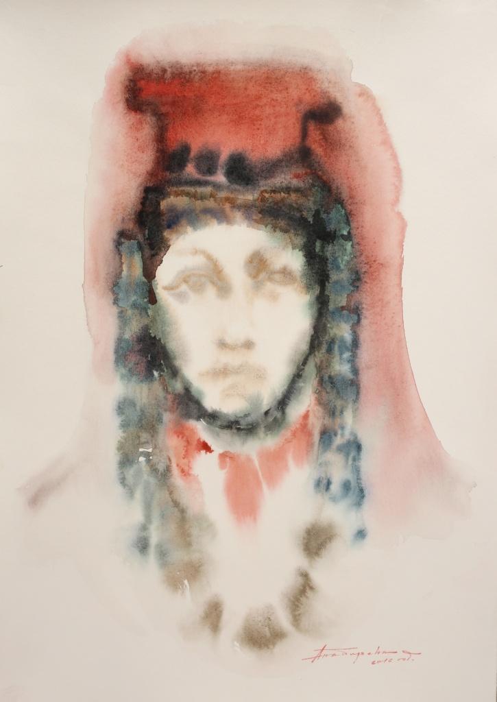 Bulgarin VII, aquarelle, 35×50 cm