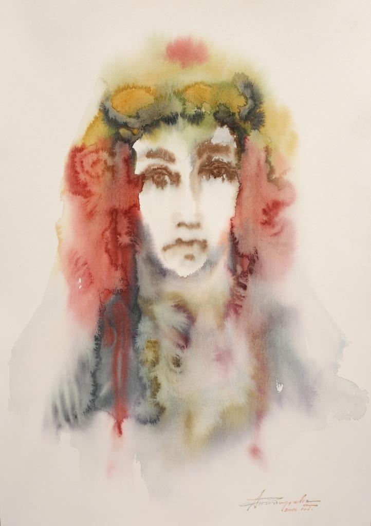 Bulgarin X, aquarelle, 35×50 cm