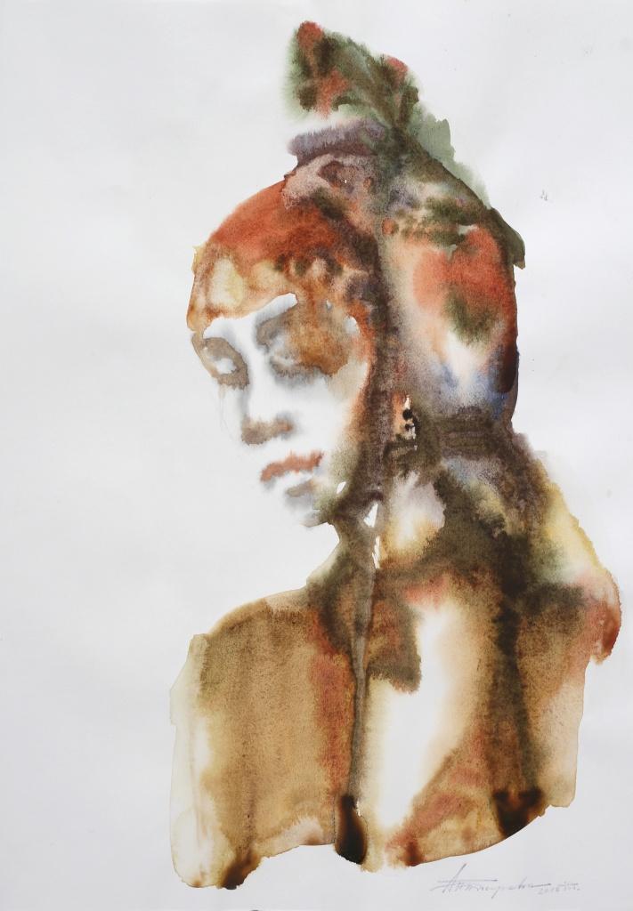 Bulgarin XI, aquarelle, 35×50 cm