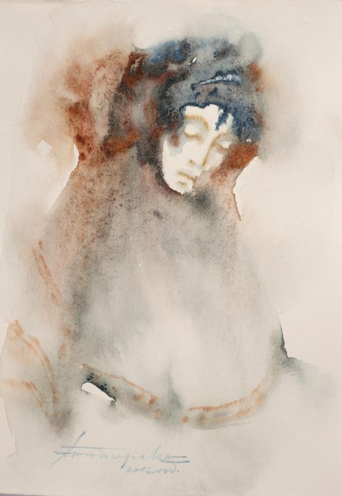 Bulgarin XII, aquarelle, 15×30 cm