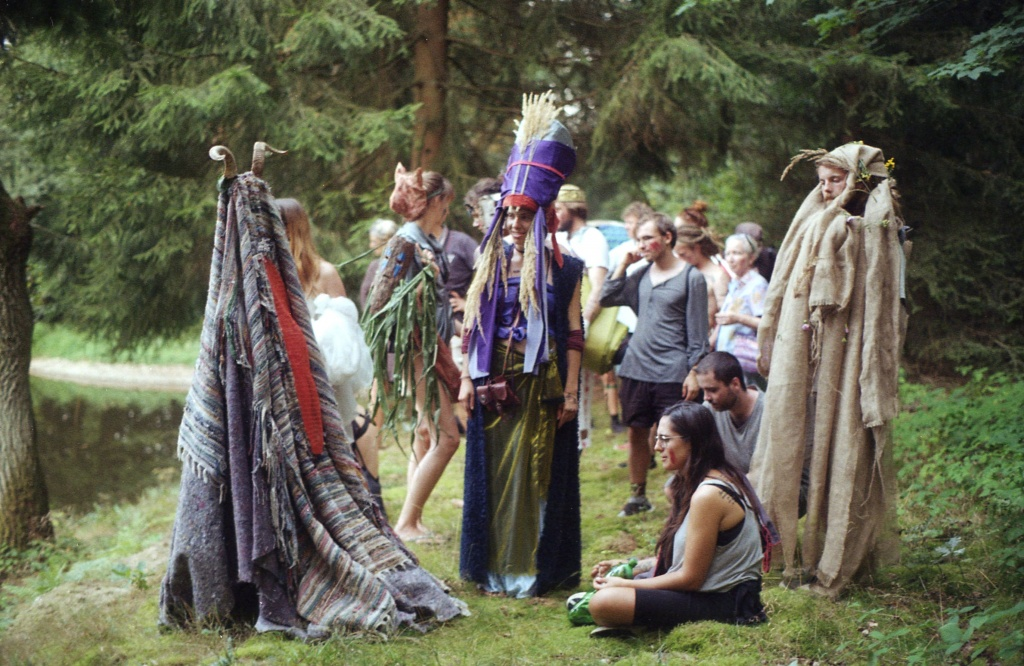 Walk with costumes, summer school Mayres